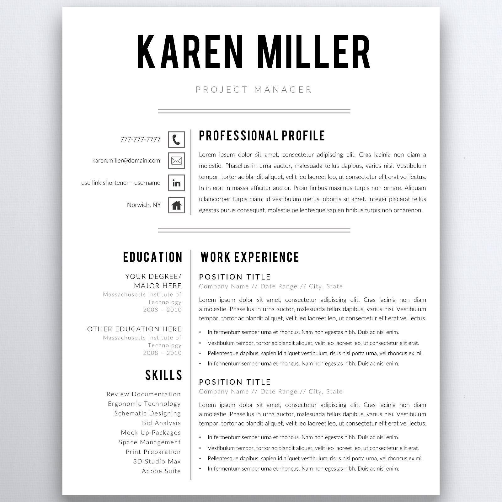 Professionellen Lebenslauf Vorlage 5 Seiten Lebenslauf