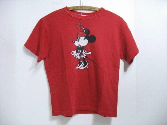 Vintage Minnie Mouse Shirt Disney T-Shirt Disneyland Tourist Souvenir