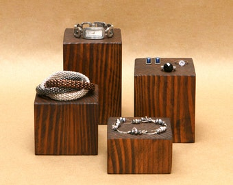 Wooden Block Display Riser / Wood Square Riser / Pottery Display / Jewelry Pedestal Display / Wooden Blocks / R005
