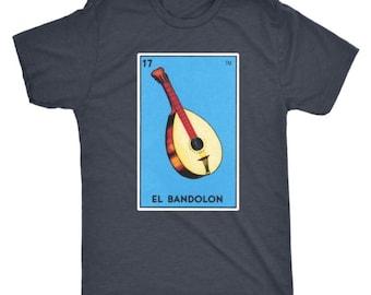 El Bandolon Card Loteria T-Shirt Mandolin Mexican Bingo