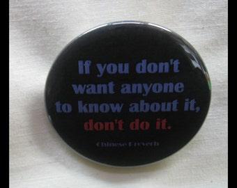"2 1/4"" pinback button Good Advice..."