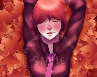 Touhou Raiko Horikawa Art Print, Poster, Fan Art, Touhou Project, Touhou Art Print, Video Game Art, Video Game Print, Wall Art, Prints