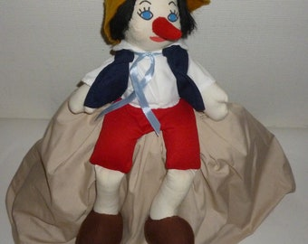 Vintage Pinocchio Geppetto Topsy Turvy Doll