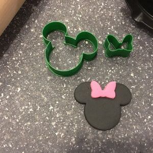 Minnie Mouse Head and Bow Set Cookie Fondant Cutter