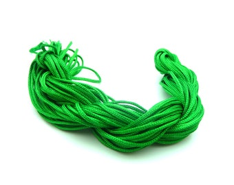 1 meter of Nylon thread Shambala 2 mm Green