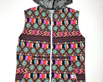 50% OFF SALE One of a Kind - PSYCHEDELIC Mess Vest ( Large )