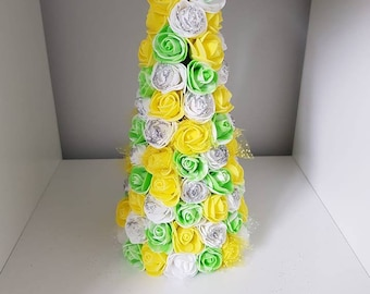 Floral Rose Cone for Wedding Table Decoration