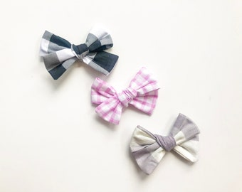Fabric Callie Bow - Gingham