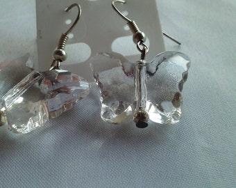 Butterfly Earrings, beaded jewelry, handmade earrings, beaded earrings; custom earrings, gift for her
