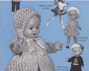 Doll's Clothes Knitting Pattern Booklet - Penelope N 56