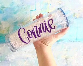 Personalized Tumbler - Personalized Tumbler with Straw - Bachelorette Party Cups - Personalized Tumbler - Bridesmaid Water Bottle -