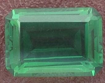 14x10 emerald cut green quartz gem stone gemstone