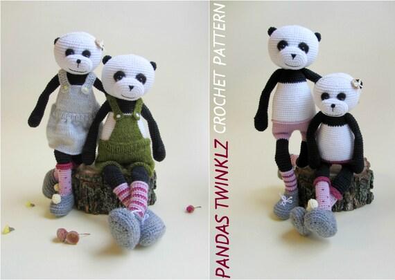 Easy Amigurumi Bear Pattern : Crochet panda bear pattern panda bear amigurumi pattern