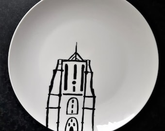 Oldehove, plates, Leeuwarden, Friesland, plate, dish, plate, plate, handmade, handmade, blackandwhite, black and white, LKC