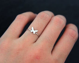 Silver Ring, 925 Sterling Silver Ring,Butterfly Ring, Butterfly Shaped Ring, Silver Jewelry, Cute Ring, Simple Ring, Silver Jewelry