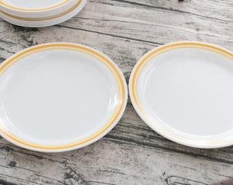 Vintage Corelle Mid Century Modern Dinner Plate set of 2 | vintage style vintage decor vintage home vintage kitchen dinner plates set & Kitchen Dinner Set Modern Plates Modern Dinnerware