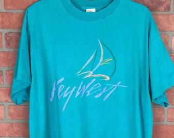 Vintage Key West, Florida Sailboat T-Shirt