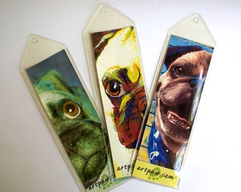 Fawn Pug Bookmark Set / Pug Gift Set