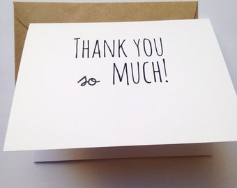 Funny Thank You Card / Humor Thank You Card / Snarky Thank You Card / Unique Thank You Card / Thank You Greeting / Gratitude Card