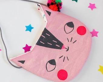 Cat Handbag / Purse Pink