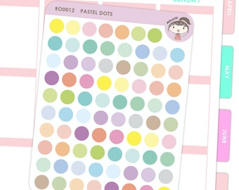 Rainbow Dot Stickers / Planner Stickers