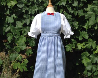 Dorothy Costume Wizard of Oz Dorothy dress blue gingham pinafore apron white underdress Womens  costume