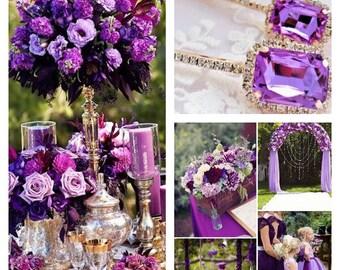 Purple hair pins, Lavender hair pins, Flower girl hair pins, Purple bridal hair pins, Wedding hairpins, Bridal hairpins, Rose gold hair pins