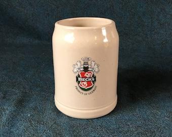 Vintage Becks Beer German Beer Stein, Father's Day Tankard