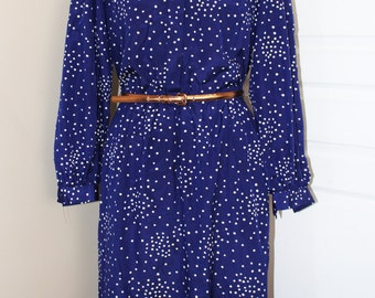 VTG DARIAN 1960s Polka Dot Dress