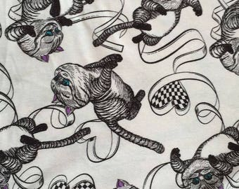 Pretty Alice Cheshire cat pattern soft Cotton 48*160 cm cotton knit 1/2 yard