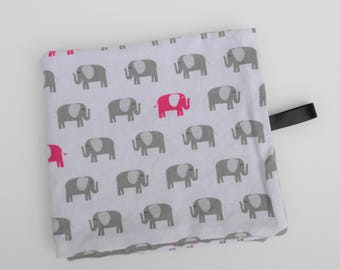 Gray and Pink Elephant Lovey | Baby Girl Minky Baby Lovey | Security Blanket | Baby Shower Gift Nursery Decor Ready to Ship