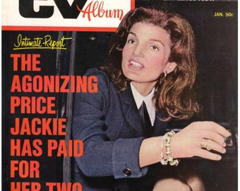 Magazine, 1971, Screen and TV Album, Dell Magazine, Jackie Onassis, Elliott Gould, Robert Redford, Frank Sinatra, Vintage Magazine
