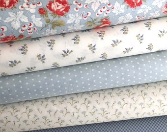 Victoria Fabric Bundle of 5 by 3 Sisters of Moda Fabrics, NEW Collections, Sold in Select A Size