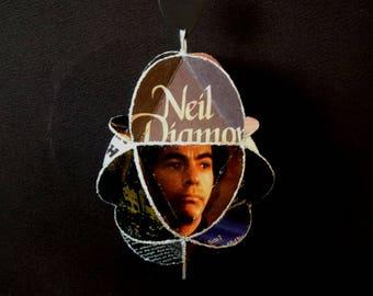Neil Diamond Album Cover Ornament Made Of Record Jackets