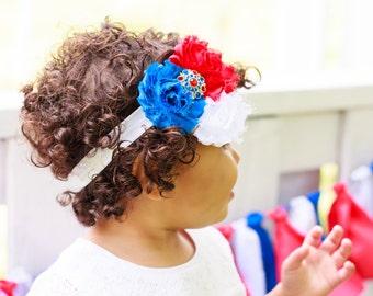 4th of July Headband, Fourth of July Headband, Independence Day Headband, Baby Headband, Toddler Headband, Girls Headband