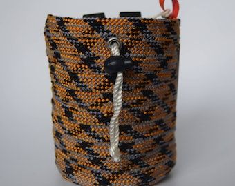 Wasp Chalk Bag: made from recycled climbing rope