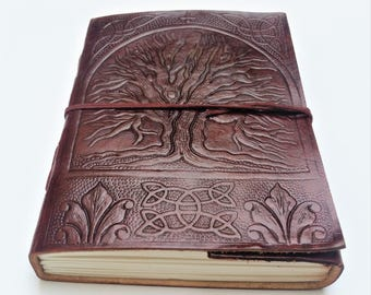 Tree of Life Leather Journal, Refillable Journal, Leather Journal, Notebook, Diary, Sketchbook.