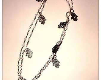Necklace with Hand of Fatima