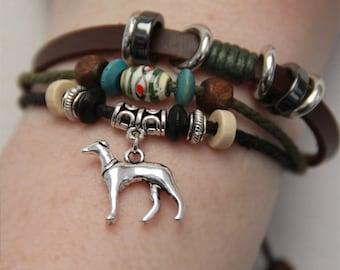 Greyhound Bracelet - Whippet Bracelet - Italian Greyhound Galgo Jewelry