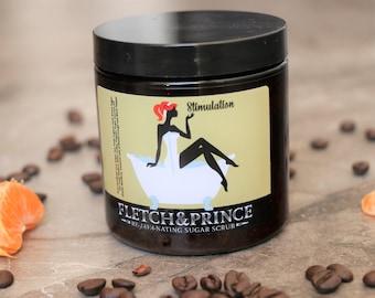 RE-JAVA-NATING Coffee Sugar Scrub, All-Natural, Homemade, 8 oz, FLETCHandPRINCE
