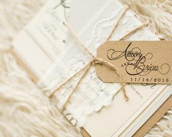 Rustic Lace Wedding Invitation - SAMPLE | Lace Wedding Invitation - SAMPLE | Rustic Wedding Invitation - SAMPLE
