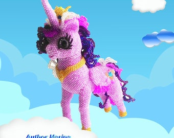 "Pattern / Tutorial Beaded Ornament - Master class for creating ""Princess Cadence"""