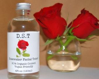 Rosewater Facial Toner (Vegan Friendly)
