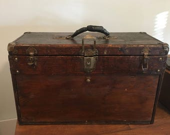 Vintage GERSTNER Wood 5 Drawer Machinist Tool Chest
