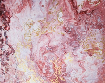 Painting painting acrylic Abstract-rose, gold