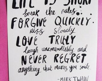 Mark Twain A4 Print