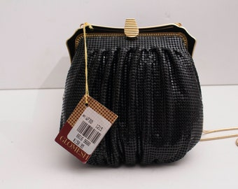 Glomesh, 1970/80's Black Pouch with Clutch