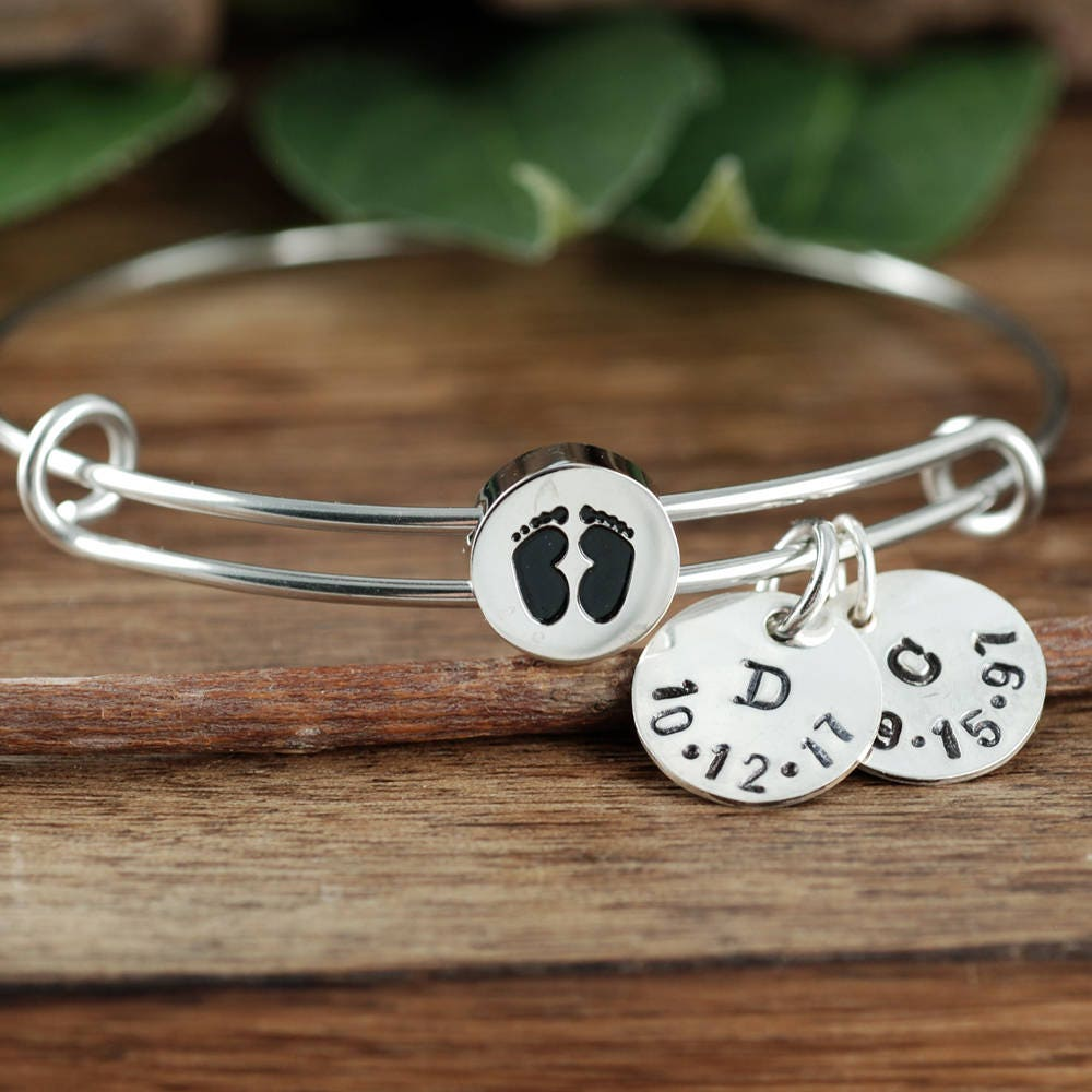 baby il expectant bracelet mom to new bangles bangle be charm listing fullxfull gift