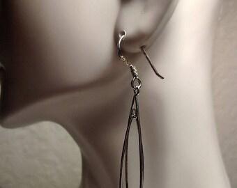 Big Sale Long Vintage Spike Sterling Silver Pierced Chandelier Statement Earrings 2 Inches Marked 925