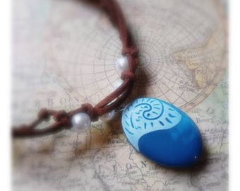Moana Inspired Blue Pebbel Necklace Perfect Gift Cosplay/Costume Jewellery